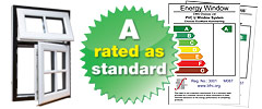 Choices windows are A rated as standard available today in Solihull, West Midlands